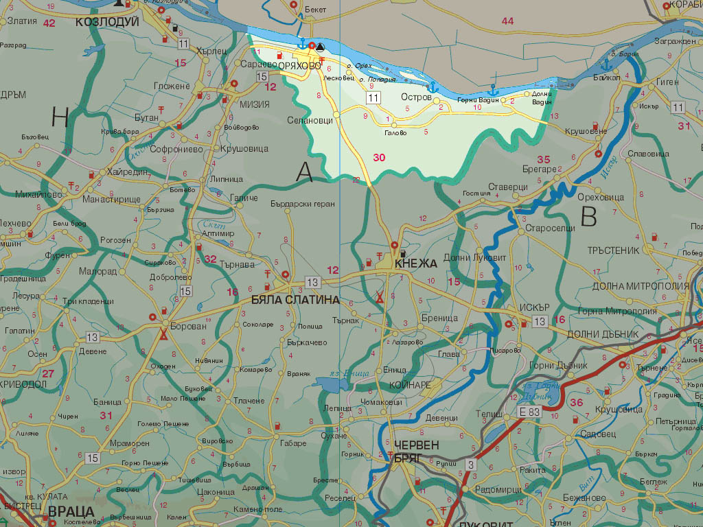 Гографско разположение на община Оряхово